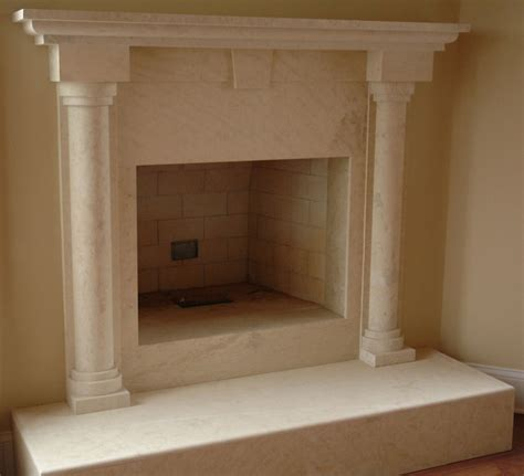 colonial marble fireplace sale cream columns mantels