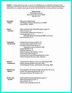 for high school students it is sometimes troublesome to With college application resume template