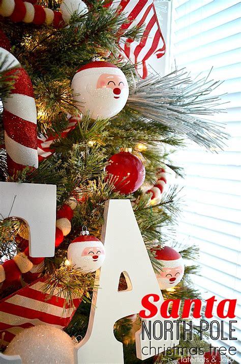 santa north pole christmas tree  decorating ideas