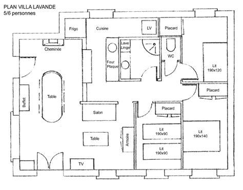 villa floor plans la villa lavande location pour 5 6 personnes entre