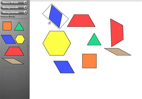 Algebra Tiles Mat Template by Glencoe Manipulatives Lakeview Elementary School