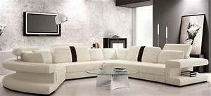 canape d39angle panoramique toulouse en cuir italien design With les plus beaux canapes cuir