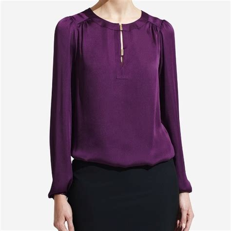 purple blouses tops how to expertly wear a purple blouse careyfashion com