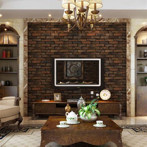 stone brick design vinyl wallpaper life changing products