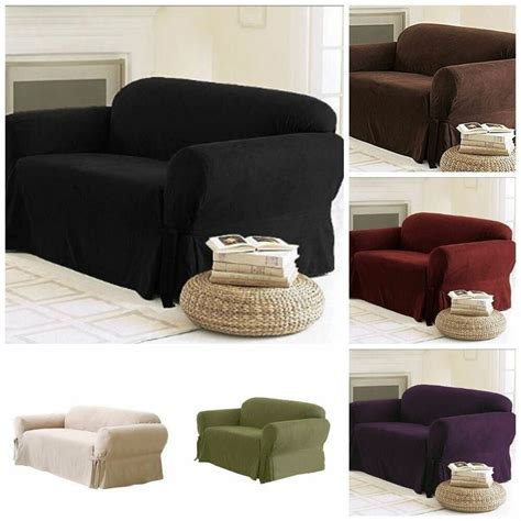 Sofa Loveseat Slipcovers by Soft Solid Micro Suede Sofa Loveseat Armchair Cover