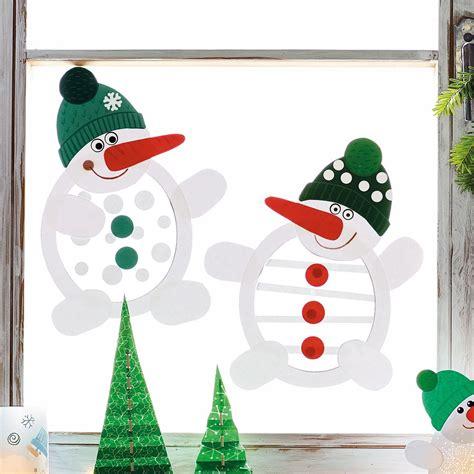 Weihnachtsdeko Fenster Schnee by Schneem 228 Nner Bastelset F 252 R 6 St 252 Ck Bestellen