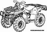 Wheeler Quad Coloring Four Atv Fourwheeler Boys Bike Kleurplaat Printable Truck Malvorlagen Wheelers Sheets Wecoloringpage Polaris Dirt Ausmalbilder Sketch Kolorowanka sketch template