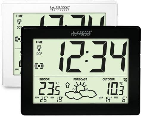 ws9180 la crosse technology horloge et station m 233 t 233 o avec temp 233 rature ext 233 rieur sans fil