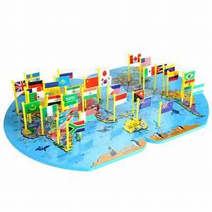 Puzzle En Bois Bébé : monde carte jigsaw puzzle 3 6 en bois puzzle ducatif jouet b b enfant enfants panneau connu ~ Dode.kayakingforconservation.com Idées de Décoration