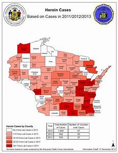 2013 Heroin Map | Wisconsin Department of Justice
