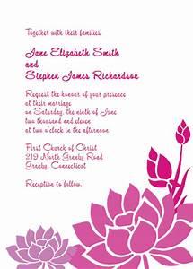 lotus flower wedding invitation wedding invitation With wedding invitations with lotus flower