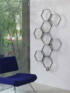Chauffage Design : radiator honeycomb rostfri designradiator virab ~ Melissatoandfro.com Idées de Décoration