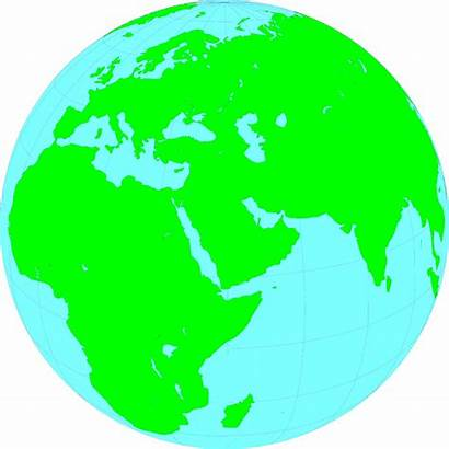 Middle East Globe Showing Illustration Maps Clipart