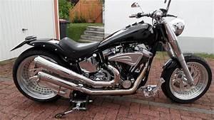 Harley Custom Bike Gebraucht : harley davidson custom umbau fat boy 240er black biete ~ Kayakingforconservation.com Haus und Dekorationen