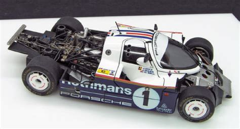 Imsa ground effect tunnels, turbo hump with 9 vents and two side scoops, naca duct for the roof, bbs wheels plus tires, side exhaust block off plates (optional), side. Building the MFH Porsche 962C - Le Mans 1985 - 1/43 scalel ...