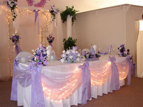 lavender and white table decor wedding reception