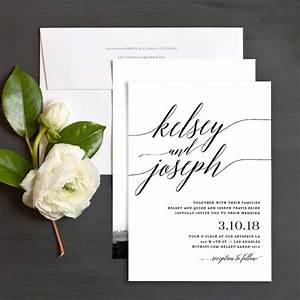 lovely minimalist invitations for a modern wedding With modern wedding invitations toronto