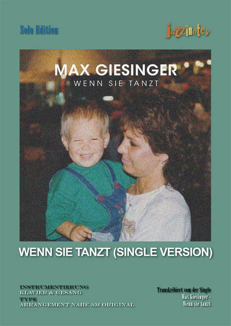 Sié E Massant Max Giesinger Wenn Sie Tanzt Musiknoten