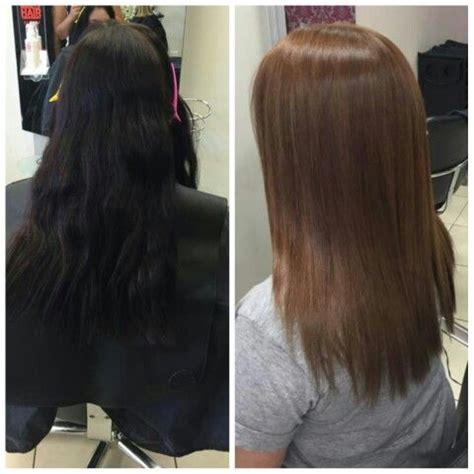 Black Hair To Before And After Pictures by After Before After And Brown On