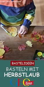 Basteln Mit Laub : basteln mit laub bunte bl tter bemalen ~ Buech-reservation.com Haus und Dekorationen