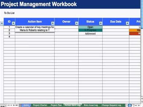 Item Tracker Template by 4 Item List Project Management