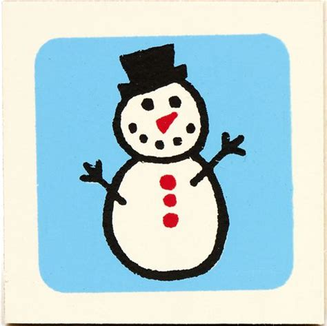 cute small snowman wooden stamp christmas stamps
