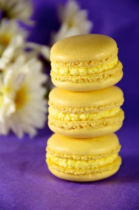 Lemon Macarons   One of the other varieties of macaron I