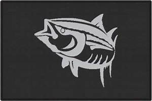 Yellowfin Tuna Silhouette Door Mats