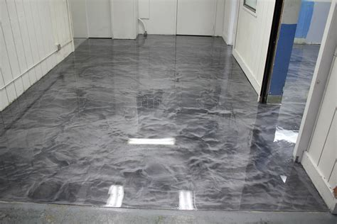 garage floor paint metallic metallic epoxy floor with polyaspartic top coat in box manufacturing plant metallicepoxy