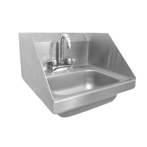 wall hung stainless steel sinks wall mount stainless steel 17 in 2 hole single bowl