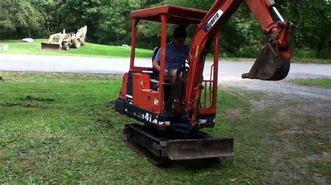 kubota kh  mini excavator youtube