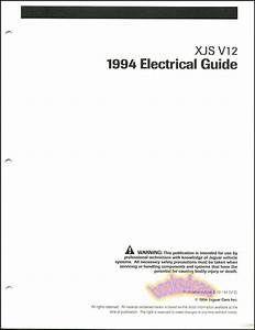 Xjs Jaguar 1994 Shop Electrical Manual V12 Wiring Diagrams Service Guide Book