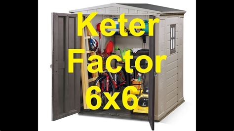 Keter 6x6 Shed by Keter Factor 6x6 Outdoor Garden Storage Shed