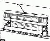 Tram Coloring Double Decker Piani Colorare Tramway Due Kleurplaat Miscellaneous Vehicles Monorail Varie Veicoli Disegni Printable Dubbeldekker Trambaan sketch template