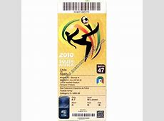 Chile vs Spain 2010 FIFA World Cup ticket Memora