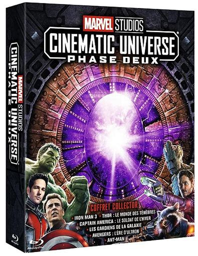 coffret collector integrale phase marvel blu ray edition