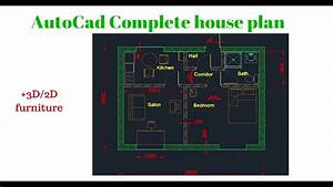 Autocad Complete Floor Plan   Part 1   Creating House Walls
