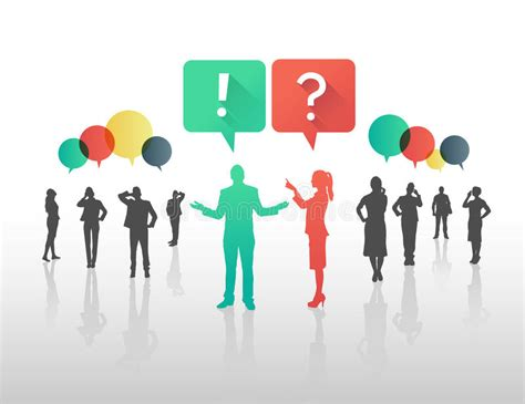 Business People Asking And Answering Questions In Speech Bubbles Stock Vector  Illustration Of
