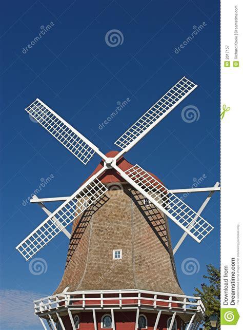 dutch windmill  stock image image  white europe