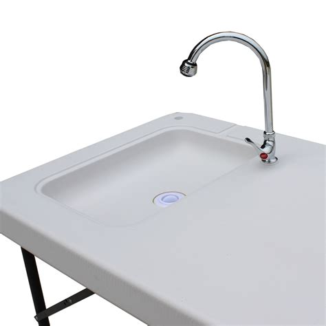 fish cleaning table with sink palm springs folding portable fish fillet cleaning table w