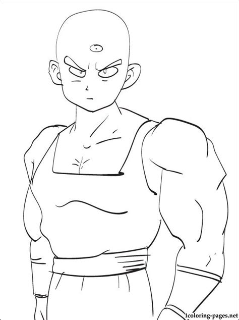 tien shinhan dragon ball coloring page coloring pages