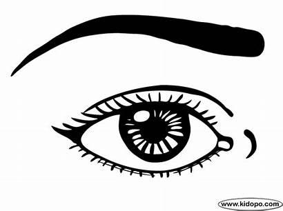 Eye Coloring Eyes Pages Drawing Printables Printable