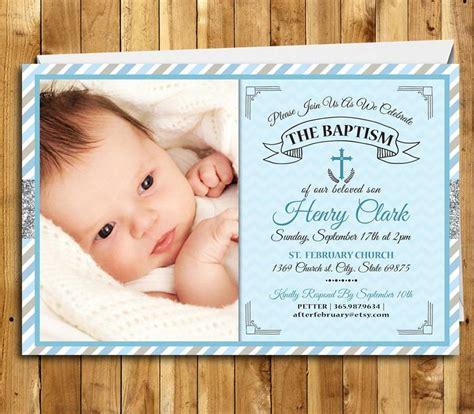Baptism Invitation Boy Baptism Invitation Printable