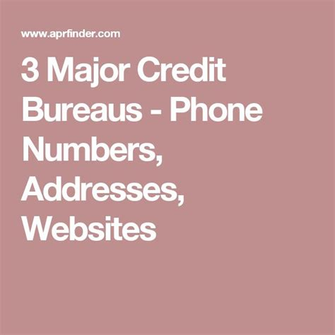 credit bureau phone numbers 25 unique equifax credit report ideas on