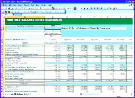 8 excel balance sheet template free exceltemplates