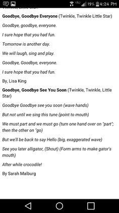 preschool goodbye song lyrics for the goodbye song from booky lillz outdoor 780