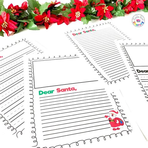 dear santa writing paper  images santa