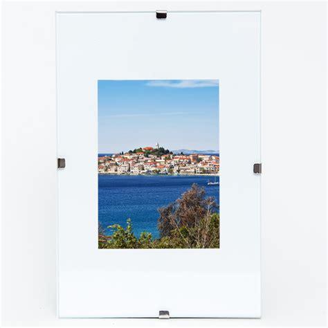 rahmenloser bilderrahmen 50x70 framesfactory rahmenloser bildhalter 40x50 cm farblos allesrahmen de