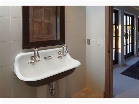 brockway  wall mounted wash sink   faucet