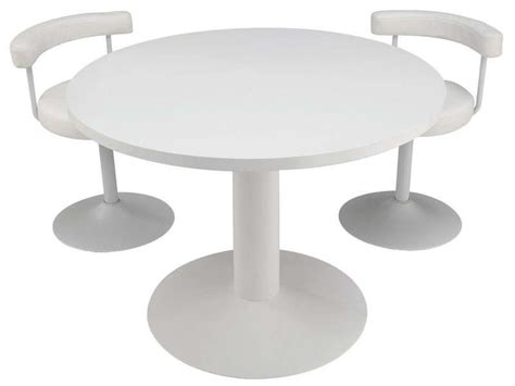 tables rondes cuisine table ronde fjord coloris blanc conforama pickture